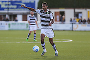 Forest Green Rovers Ethan Pinnock(16) on the ball during the The FA Cup 4th qualifying round match between Sutton United and Forest Green Rovers at Gander Green Lane, Sutton, United Kingdom on 15 October 2016. Photo by Shane Healey.