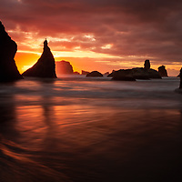 Wizards Hat at Sunset. Bandon, Oregon