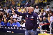 Boniciolli Matteo<br /> FIAT Torino - Victoria Libertas Pesaro<br /> Lega Basket Serie A 2018-2019<br /> Torino 12/05/2019<br /> Foto M.Matta/Ciamillo & Castoria