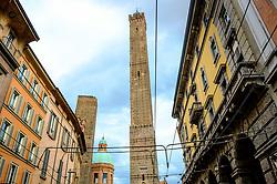 The famous 'two towers' (Le due torri) of Bologna, Italy<br /> <br /> (c) Andrew Wilson | Edinburgh Elite media
