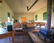 The Junction City one room school house located  on the LBJ Ranch near Johnson City Texas.<br />