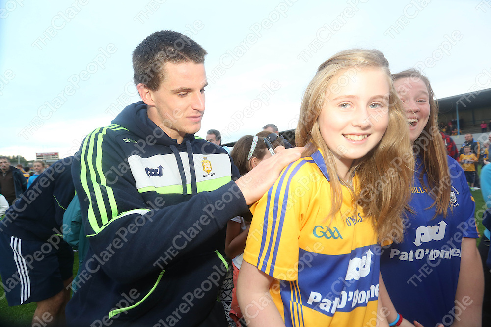 Clare Hurling fan Aisling Cleary pictured at  the Open Training Night on Tuesday.<br /> Pic. Brian Arthur/ Press 22.
