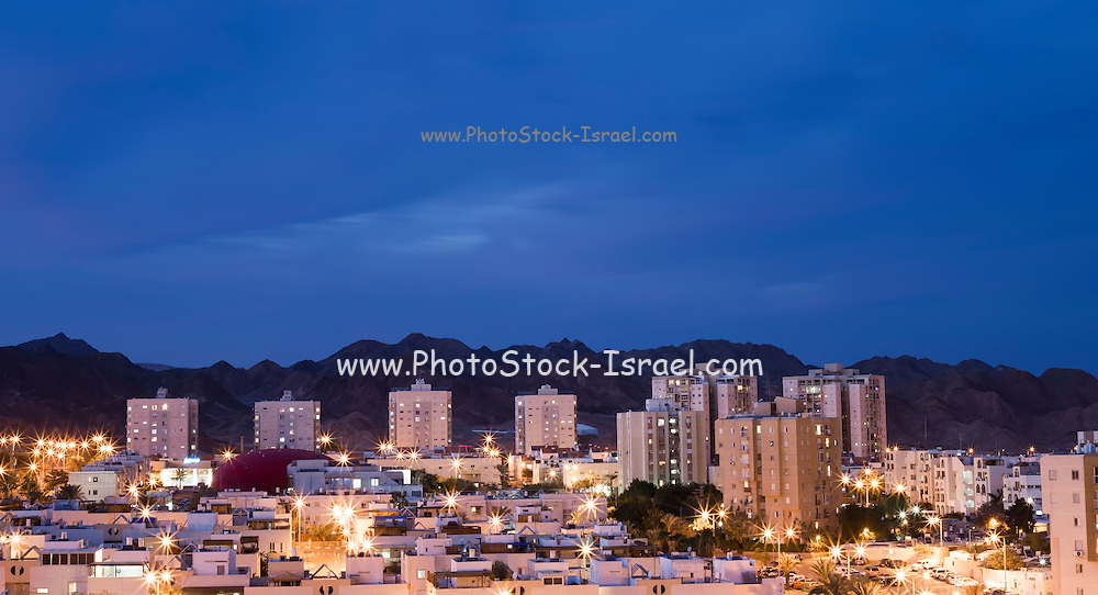 Eilat Israel. Cityscape at night