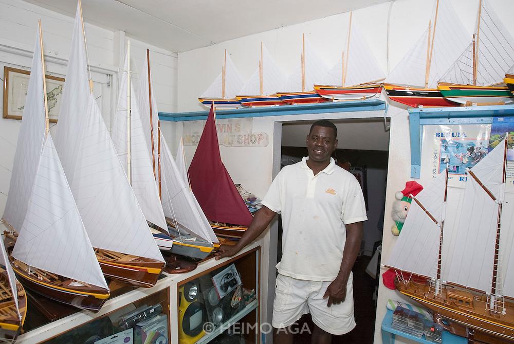 Port Elizabeth. Mauvin at his Model Boat Shop.