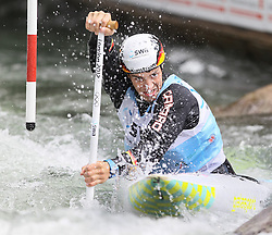 28.02.2013, Eiskanal, Augsburg, GER, ICF Kanuslalom Weltcup, 2. Rennen, im Bild Sideris TASIADIS (GER, Augsburg), C1, Canadier Einer, // during 2nd race of ICF Canoe Slalom World Cup at the ice track, Augsburg, Germany on 2013/06/28. EXPA Pictures © 2013, PhotoCredit: EXPA/ Eibner/ Klaus Rainer Krieger<br /> <br /> ***** ATTENTION - OUT OF GER *****