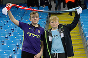 Manchester City fans during the Champions League Group D match between Manchester City and Sevilla at the Etihad Stadium, Manchester, England on 21 October 2015. Photo by Alan Franklin.