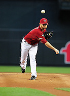 Apr. 13 2011; Phoenix, AZ, USA; Arizona Diamondbacks starting pitcher Ian Kennedy (31) pitches during the first inning against the St. Louis Cardinals at Chase Field. Mandatory Credit: Jennifer Stewart-US PRESSWIRE.