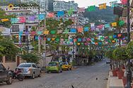 Street scene in the Romantic Zone in Puerto Vallarta, Mexico
