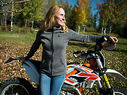 Meg Petersen is known around town for her work with Jackson Hole Cinemas but she's most at home riding her KTM in the mountains.