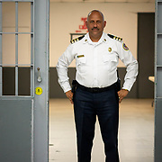 JULY 19, 2018----BAYAMON, PUERTO RICO---<br /> First Lieutenant Angel L Burgos Lopez in the Bayamon Correctional Complex which is made up of four buildings. The Puerto Rico Corrections and Rehabilitation Department is in the middle of a project to downsize by transferring inmates to private jails in the United States and closing institutions like this.<br /> (Photo by Angel Valentin/Freelance)