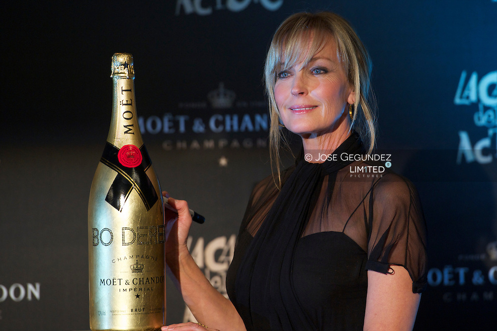 Actress Bo Derek attends a photocall and press conference ahead of the Moet & Chandon charity auction at the Casino de Madrid on November 23, 2010 in Madrid, Spain.