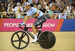 Belgium's Kenny De Ketele during the Mens 40km Points Race during day four of the 2018 European Championships at the Sir Chris Hoy Velodrome, Glasgow. PRESS ASSOCIATION Photo. Picture date: Sunday August 5, 2018. See PA story CYCLING European. Photo credit should read: Jane Barlow/PA Wire. RESTRICTIONS: Editorial use only, no commercial use without prior permission