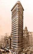 Flatiron building in New York City, circa 1910-1920