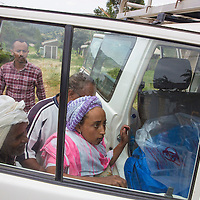 A woman suffering from obstructed labor gets transported to the government hospital in Harar, where she will get a Cesearean Section surgery.