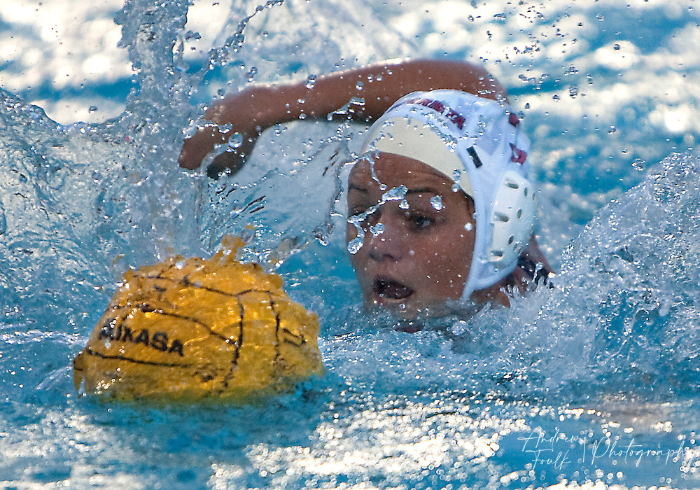/Andrew Foulk/ For The Californian/ .Murrieta Valley's Ashley Fedler,  swims to gain control of the ball during the CIF Southern Section Division III championship match against St. Lucy's.