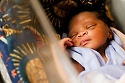 The newborn child of Kadie Josiah, who was born through a c-section surgery that saved both the mother and the child at the UBC hospital in the town of Mattru Jong, Sierra Leone, on Thursday April 22, 2010.