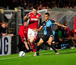 Bristol City's goalscorer, Brendan Moloney sprints down the wing - Photo mandatory by-line: Joe Dent/JMP - Tel: Mobile: 07966 386802 08/10/2013 - SPORT - FOOTBALL - London Road Stadium - Peterborough - Peterborough United V Brentford - Johnstone Paint Trophy