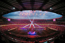 A general view of the Opening Ceremony prior to the match - Mandatory byline: Patrick Khachfe/JMP - 07966 386802 - 18/09/2015 - RUGBY UNION - Twickenham Stadium - London, England - England v Fiji - Rugby World Cup 2015 Pool A.
