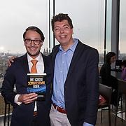 NLD/Amsterdam/20150324 -  boekpresentatie Het Grote Songfestival boek, Auteurs Richard van de Crommert (R) en Dave Boomkens