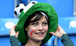 14-06-2012 VOETBAL: UEFA EURO 2012 DAY 7: POLEN OEKRAINE<br /> Tifosi italiani support during the Euro 2012 football championships match Italy v Croatia at the stadium in Poznan. <br /> ***NETHERLANDS ONLY***<br /> ©2012-FotoHoogendoorn.nl