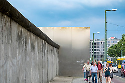 Berlin Wall at Berlin Wall memorial park at Bernauer Strasse in Berlin, Germany