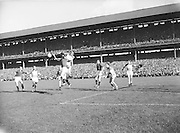 Player jumps at ball during the All Ireland final Croke Park on the 24th September 1961. Down 3-6 Offaly 2-8.