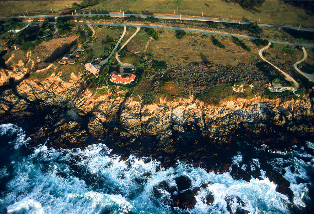 Aerial Carmel HIghlands, California