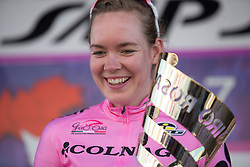 \annva of \boel celebrates winning the 28th Giro Rosa after Stage 10 of the Giro Rosa - a 124 km road race, starting and finishing in Torre Del Greco on July 9, 2017, in Naples, Italy. (Photo by Balint Hamvas/Velofocus.com)