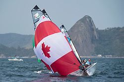 McROBERTS John, GAY Jackie, CAN, 2-Person Keelboat, SKUD18, Sailing, Voile à Rio 2016 Paralympic Games, Brazil