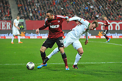 08.03.2014, easyCredit Stadion, Nuernberg, GER, 1. FBL, 1. FC Nuernberg vs SV Werder Bremen, 24. Runde, im Bild Josip Drmic (1 FC Nuernberg / links) im Zweikampf mit Philipp Bargfrede (Werder Bremen / rechts) Action / Aktion, Duell, Zweikampf // during the German Bundesliga 24th round match between 1. FC Nuernberg and SV Werder Bremen at the easyCredit Stadion in Nuernberg, Germany on 2014/03/08. EXPA Pictures © 2014, PhotoCredit: EXPA/ Eibner-Pressefoto/ Merz<br /> <br /> *****ATTENTION - OUT of GER*****