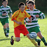 Maurice Nugent in action for Avenue Utd against Killarney Celtic in the SFAI U13 Troy CUp at Lees Road. - Photograph by Flann Howard