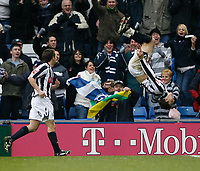 Photo: Steve Bond/Sportsbeat Images.<br /> West Bromwich Albion v Charlton Athletic. Coca Cola Championship. 15/12/2007. Zoltan Gera (R) celebrates his second goal with a somersault