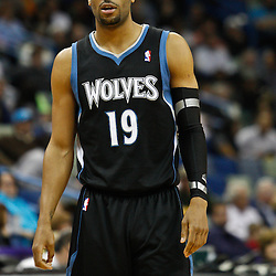 February 7, 2011; New Orleans, LA, USA; Minnesota Timberwolves guard Wayne Ellington (19) against the New Orleans Hornets during the second quarter at the New Orleans Arena.   Mandatory Credit: Derick E. Hingle