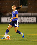 CHATTANOOGA, TN - AUGUST 19:  Forward Alex Morgan #13 of the United States dribbles with the ball during the friendly match against Costa Rica at Finley Stadium on August 19, 2015 in Chattanooga, Tennessee.  (Photo by Mike Zarrilli/Getty Images)