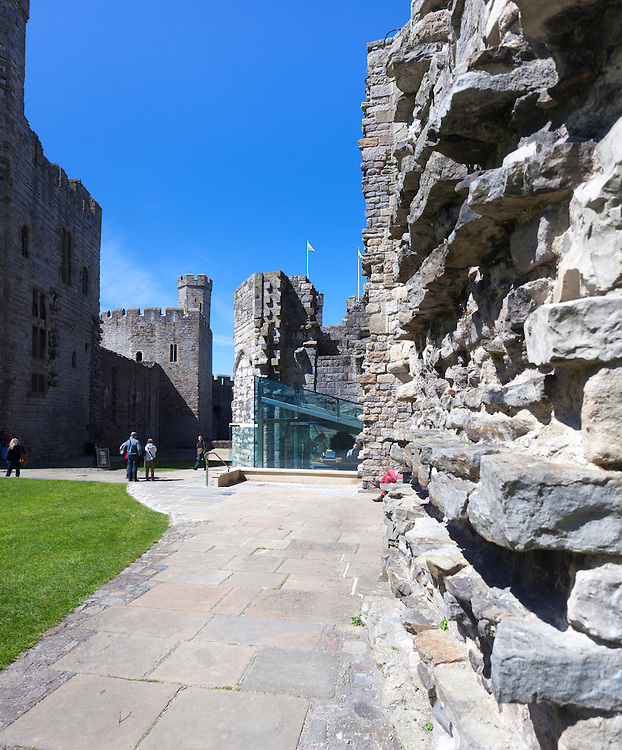 Caernarfon Castle New Gateway Entrance, Wales