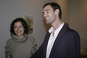 AMALIA PICA AND  TIM BRADEN, TIM BRADEN EXHIBITION AT TIMOTHY TAYLOR GALLERY, 24 DERING ST. LONDON. 10 OCTOBER 2006. -DO NOT ARCHIVE-© Copyright Photograph by Dafydd Jones 66 Stockwell Park Rd. London SW9 0DA Tel 020 7733 0108 www.dafjones.com