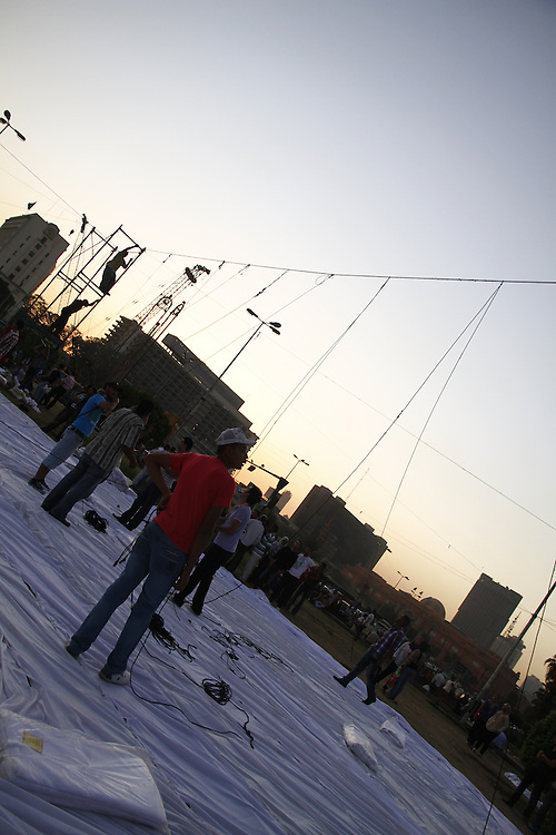 On the eve of what was called the 2nd revolution, Egyptian people are setting up tents on Tahrir square for, which was at the time, the second biggest sit-in of year
