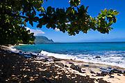 Hideaways Beach and the Na Pali Coast, Island of Kauai, Hawaii