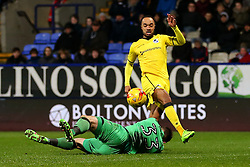 Byron Moore of Bristol Rovers scores the equalising goal to make it 1-1 - Mandatory by-line: Matt McNulty/JMP - 28/02/2017 - FOOTBALL - Macron Stadium - Bolton, England - Bolton Wanderers v Bristol Rovers - Sky Bet League One