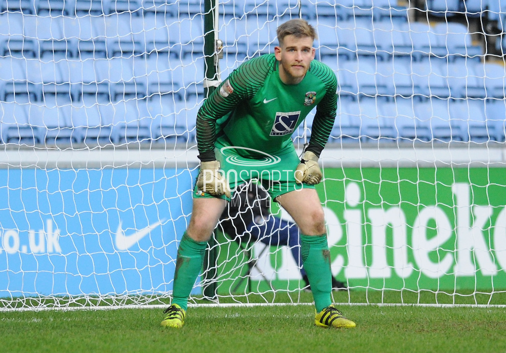 Coventry City goalkeeper Lee Burge (1) during the EFL Sky Bet League 1 match between Coventry City and Millwall at the Ricoh Arena, Coventry, England on 4 February 2017. Photo by Andy Handley.