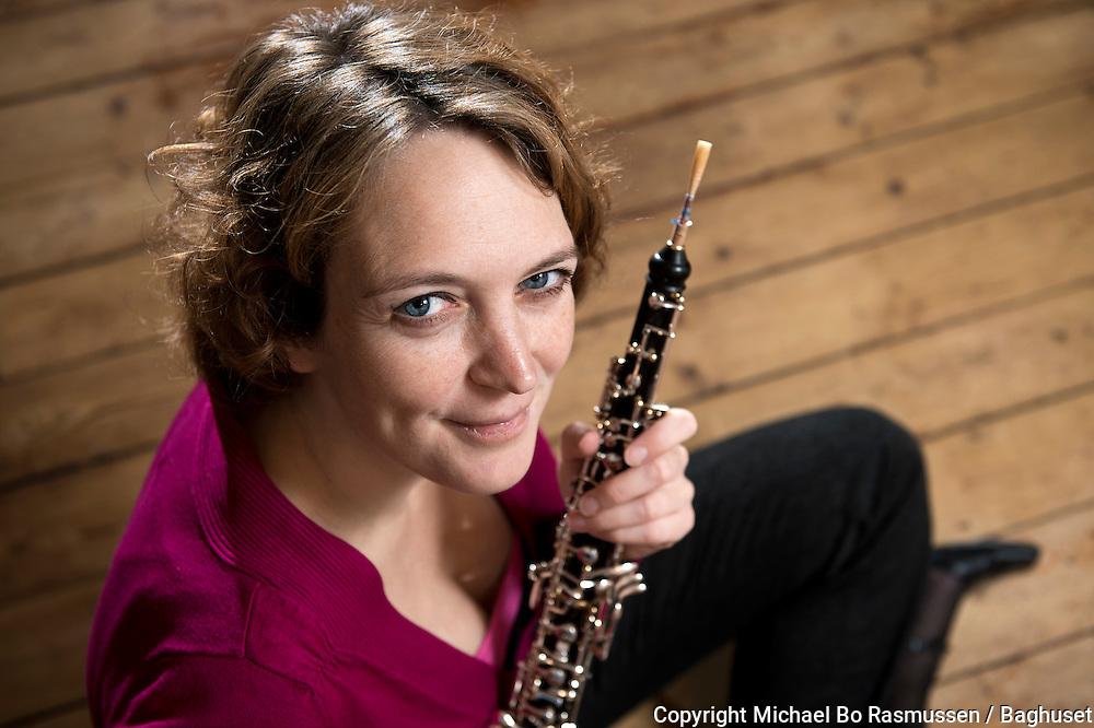 Oboist Judith Johanna Margaretha Blauw fra Aalborg Symfoniorkester. Foto: © Michael Bo Rasmussen / Baghuset. Dato: 10.12.13