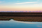 View of the Brooks Range from the Arctic Coastal Plain in the Arctic National Wildlife Refuge, Alaska