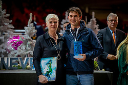 L'Année Hippique Awards<br /> Van der Net Inge, Guerdfat Steve, Best Rider of the Year<br /> CHI Genève 2019<br /> © Hippo Foto - Dirk Caremans<br />  14/12/2019