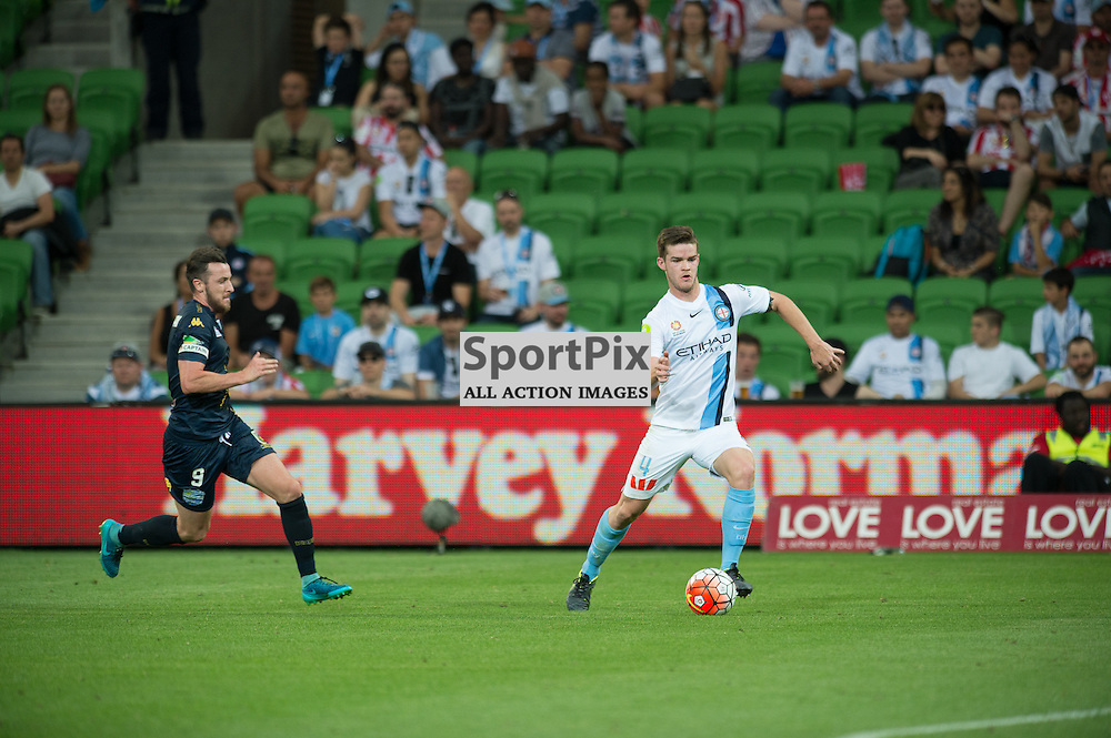 Connor Chapman of Melbourne City -Hyundai A-League,  25th October 2015, RD 3, Melbourne City FC v Central Coast Mariners with a win to City 3:1 © Mark Avellino | SportPix.org.uk