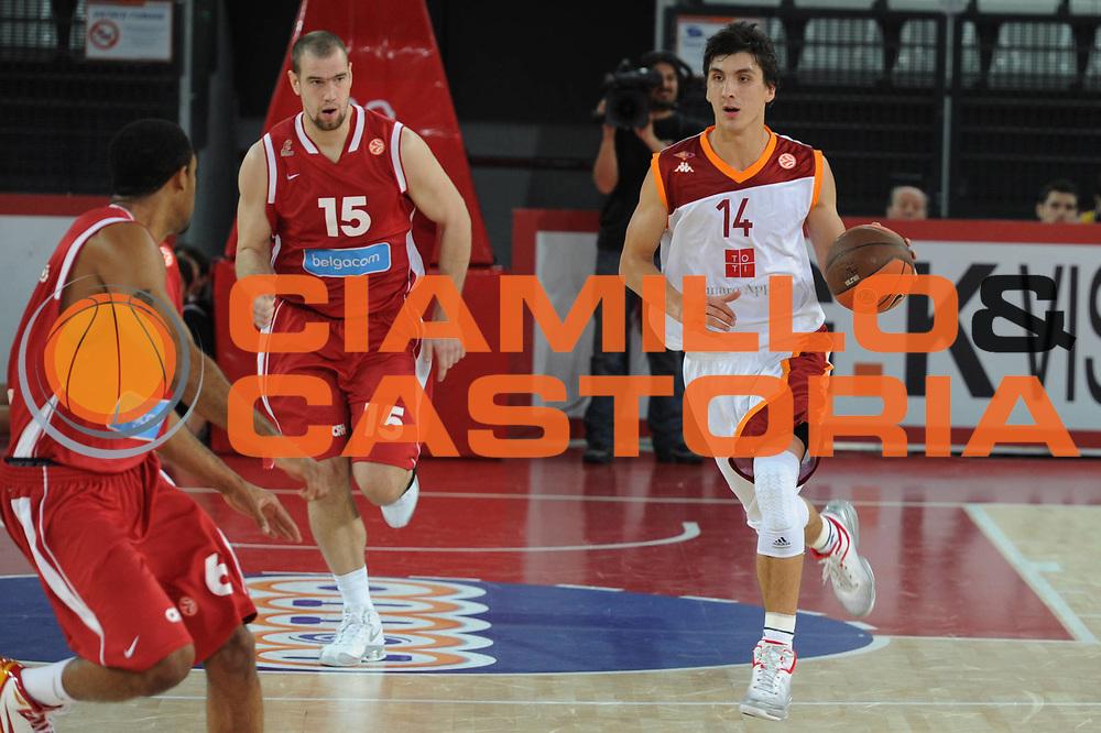 DESCRIZIONE : Roma Eurolega 2010-11 Lottomatica Virtus Roma Spirou Chaleroi<br /> GIOCATORE : Nihad Dedovic<br /> SQUADRA : Lottomatica Virtus Roma Spirou Chaleroi<br /> EVENTO : Eurolega 2010-2011<br /> GARA : Lottomatica Virtus Roma Spirou Chaleroi<br /> DATA : 02/12/2010<br /> CATEGORIA : palleggio<br /> SPORT : Pallacanestro <br /> AUTORE : Agenzia Ciamillo-Castoria/Giulio Ciamillo<br /> Galleria : Eurolega 2010-2011<br /> Fotonotizia : Roma Eurolega Euroleague 2010-11 Lottomatica Virtus Roma Spirou Chaleroi<br /> Predefinita :