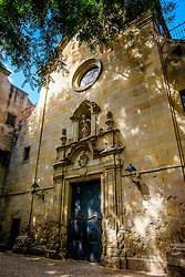 Pla&ccedil;a de Sant Felip Neri (Sant Felip Neri Square) Barcelona, Catalonia, Spain.   Sant Felip Neri is a peaceful square hidden between the narrow and charming streets of the Gothic Quarter<br /> <br /> (c) Andrew Wilson | Edinburgh Elite media