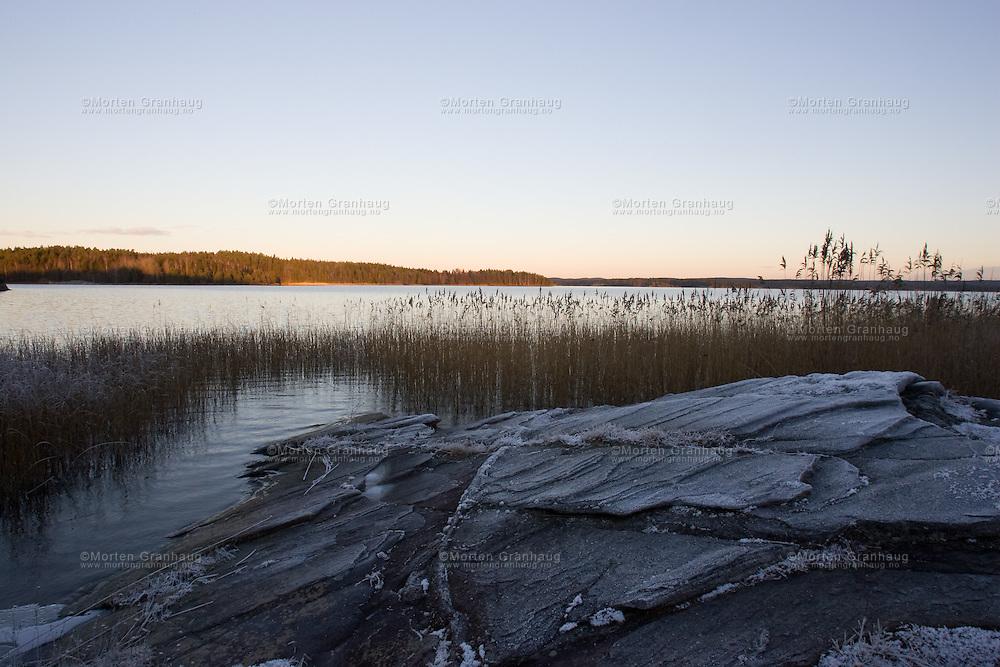 Vansjø (Vansjoe) - lake..Vansjø i Rygge kommune, Østfold