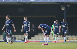 Southend United players look dejected after goig 0-2 down - Mandatory by-line: Arron Gent/JMP - 30/03/2019 - FOOTBALL - Roots Hall - Southend-on-Sea, England - Southend United v Shrewsbury Town - Sky Bet League One