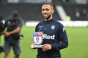 Sky Bet Man of the match Leeds United striker Kemar Roofe (7) during the EFL Sky Bet Championship match between Derby County and Leeds United at the Pride Park, Derby, England on 11 August 2018.