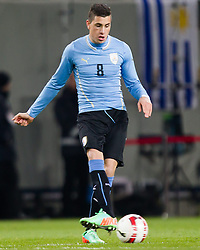 05.03.2014, Woerthersee Arena, Klagenfurt, AUT, Testspiel, Oesterreich vs Uruguay, im Bild Jose Gimenez (Uruguay) // during the International Friendly between Austria and Uruguay at the Woerthersee Arena, Klagenfurt, Austria on 2013/03/05. EXPA Pictures © 2014, PhotoCredit: EXPA/ JFK